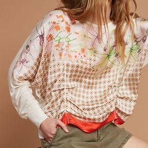 Anthropologie Tiny Woven Dolman blouse top size M